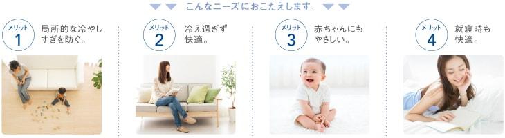 エアコン取り付け屋さん:「【コロナ】 エアコン Wシリーズ」冷房機能4の画像(イメージ)