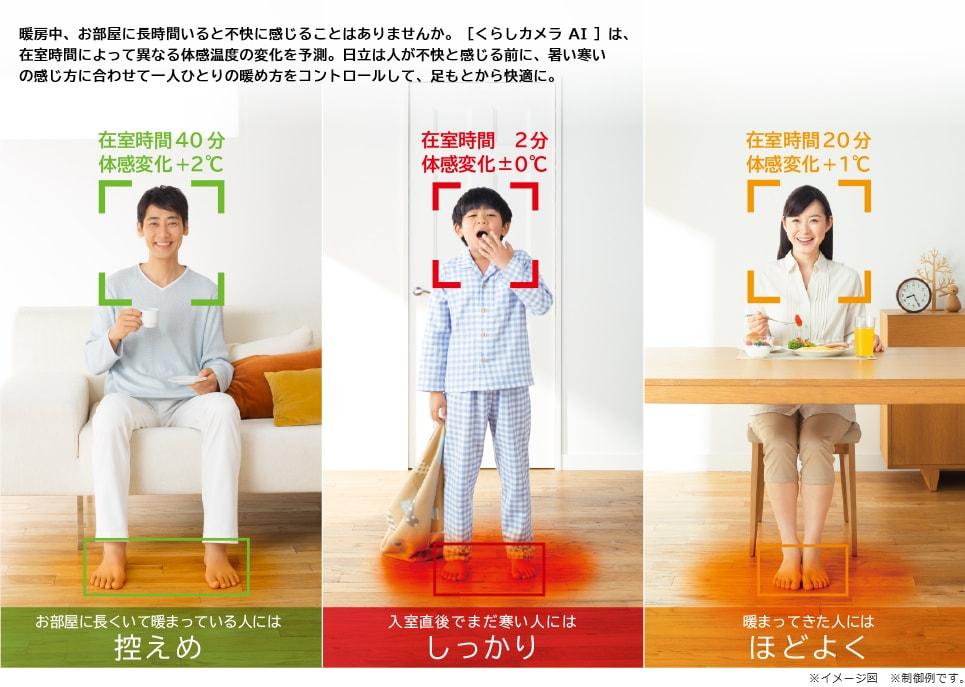 エアコン取り付け屋さん:「【日立(HITACHI)】 エアコン 白くまくん Xシリーズ」くらしカメラAIの画像(イメージ)