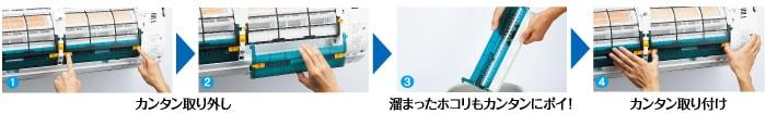 エアコン取り付け屋さん:「【三菱重工】 エアコン STシリーズ」清掃機能の画像2(イメージ)