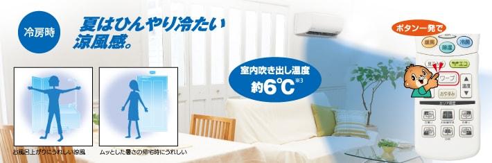 エアコン取り付け屋さん:「【三菱重工】 エアコン RTシリーズ」快適空調機能の画像3(イメージ)