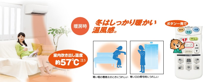 エアコン取り付け屋さん:「【三菱重工】 エアコン RTシリーズ」快適空調機能の画像5(イメージ)