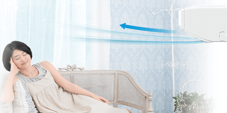 エアコン取り付け屋さん:「【パナソニック】 エアコン Eolia(エオリア) UXシリーズ」冷房機能の画像(イメージ)