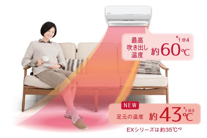 エアコン取り付け屋さん:「【パナソニック】 エアコン Eolia(エオリア) WXシリーズ」快適機能の画像3(イメージ)