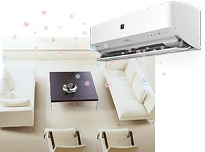 エアコン取り付け屋さん:「【シャープ(SHARP)】 エアコン G-Dシリーズ」プラズマクラスターの画像(イメージ)